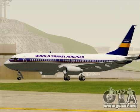 Boeing 737-800 World Travel Airlines (WTA) para vista lateral GTA San Andreas