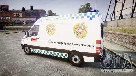 Mercedes-Benz Sprinter ARM Ambulance [ELS] para GTA 4 left