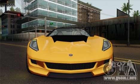 GTA 5 Invetero Coquette (IVF) para GTA San Andreas vista posterior izquierda