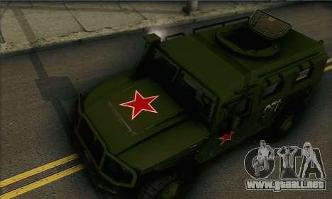 GAZ 2975 Tigre para GTA San Andreas vista posterior izquierda