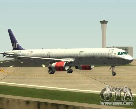Airbus A321-200 Scandinavian Airlines System para GTA San Andreas