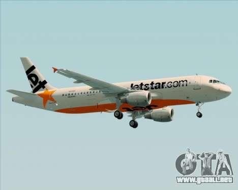 Airbus A320-200 Jetstar Airways para visión interna GTA San Andreas