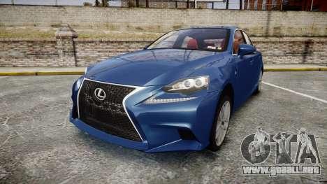 Lexus IS 350 F-Sport 2014 Rims1 para GTA 4