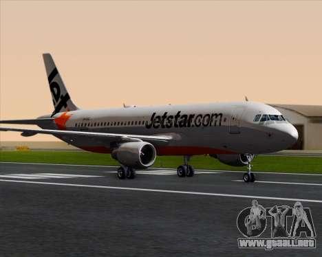 Airbus A320-200 Jetstar Airways para GTA San Andreas left