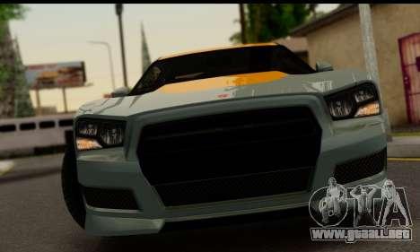 Bravado Buffalo S (IVF) para GTA San Andreas vista posterior izquierda