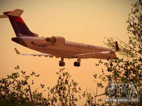 Bombardier CRJ-700 Delta Connection para GTA San Andreas vista hacia atrás
