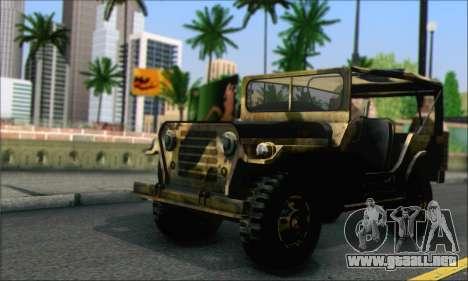 Iguana From Mercenaries 2 World in Flames para GTA San Andreas vista posterior izquierda