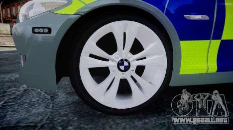 BMW 530d F11 Metropolitan Police [ELS] SEG para GTA 4 visión correcta