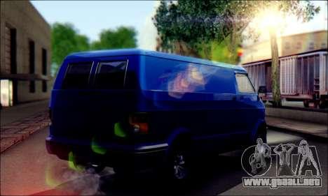 GTA 5 Youga para GTA San Andreas vista posterior izquierda