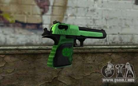 Green Desert Eagle para GTA San Andreas segunda pantalla
