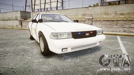 GTA V Vapid Cruiser LSS White [ELS] Slicktop para GTA 4