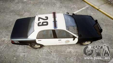 GTA V Vapid Cruiser LSP [ELS] para GTA 4 visión correcta