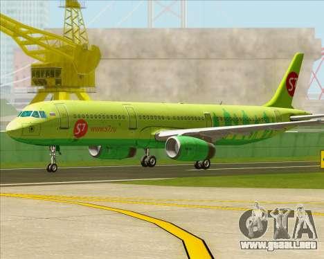 Airbus A321-200 S7 - Siberia Airlines para GTA San Andreas left