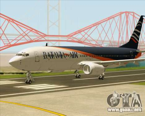 Boeing 737-800 Batavia Air (New Livery) para GTA San Andreas vista posterior izquierda