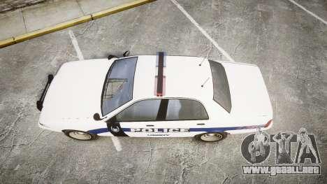 GTA V Vapid Cruiser LP [ELS] para GTA 4 visión correcta