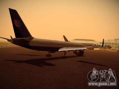 Boeing 757-224 United Airlines para la visión correcta GTA San Andreas