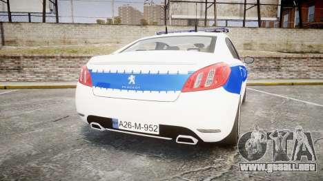 Peugeot 508 Republic of Srpska [ELS] para GTA 4 Vista posterior izquierda