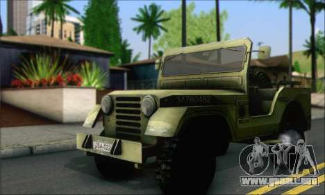 Jeep From The Bureau XCOM Declassified para GTA San Andreas