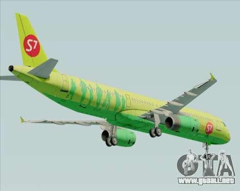 Airbus A321-200 S7 - Siberia Airlines para la visión correcta GTA San Andreas