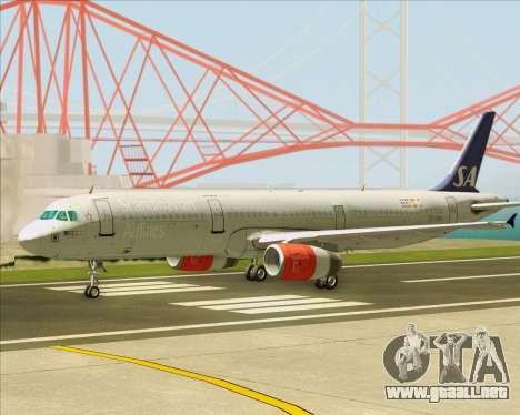 Airbus A321-200 Scandinavian Airlines System para visión interna GTA San Andreas
