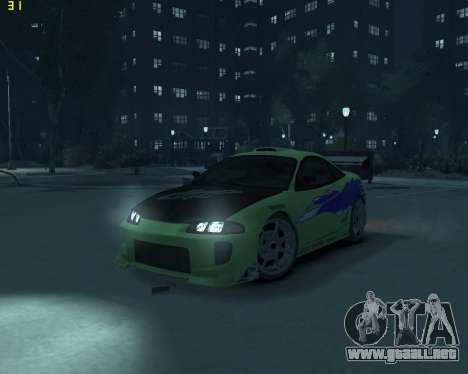 Mitsubishi Eclipse from Fast and Furious para GTA 4
