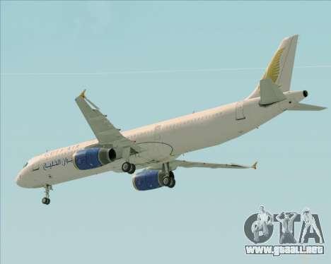 Airbus A321-200 Gulf Air para las ruedas de GTA San Andreas
