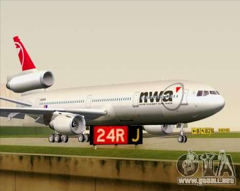 McDonnell Douglas DC-10-30 Northwest Airlines para GTA San Andreas left