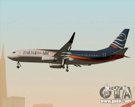 Boeing 737-800 Batavia Air (New Livery) para vista lateral GTA San Andreas