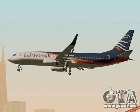 Boeing 737-800 Batavia Air (New Livery) para vista lateral GTA San Andreas