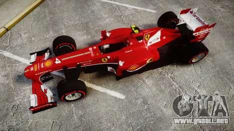 Ferrari F138 v2.0 [RIV] Massa TSSD para GTA 4 visión correcta