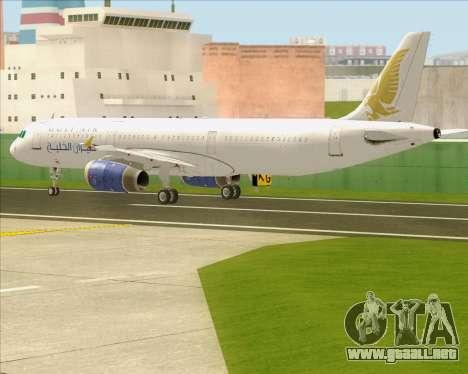 Airbus A321-200 Gulf Air para vista lateral GTA San Andreas