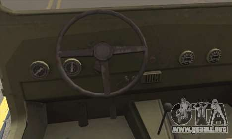 Jeep From The Bureau XCOM Declassified para GTA San Andreas vista posterior izquierda
