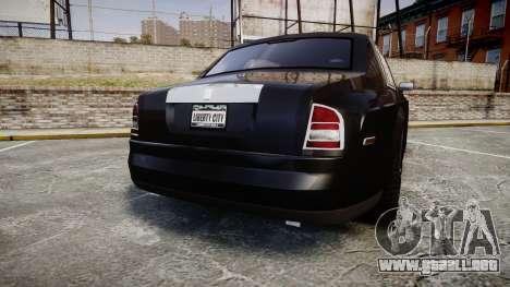 Rolls-Royce Phantom EWB para GTA 4 Vista posterior izquierda