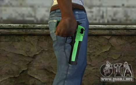Green Desert Eagle para GTA San Andreas tercera pantalla