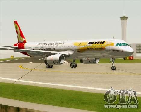 Airbus A321-200 Qantas (Wallabies Livery) para GTA San Andreas left
