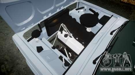 ВАЗ-2107 Avtosh Estilo para GTA 4 vista interior