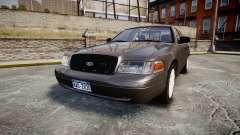 Ford Crown Victoria Unmarked Police [ELS] para GTA 4