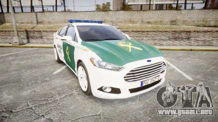 Ford Mondeo 2014 Guardia Civil Cops [ELS] para GTA 4