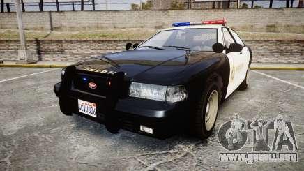 GTA V Vapid Cruiser LSS Black [ELS] para GTA 4