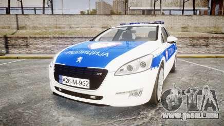 Peugeot 508 Republic of Srpska [ELS] para GTA 4
