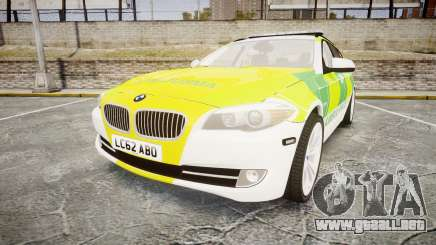 BMW 530d F11 Ambulance [ELS] para GTA 4