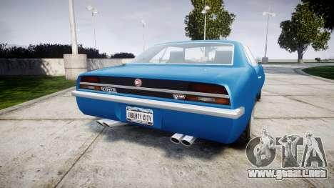 GTA V Declasse Vigero para GTA 4 Vista posterior izquierda