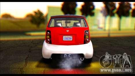 GTA 5 Benefactor Panto IVF para GTA San Andreas vista posterior izquierda