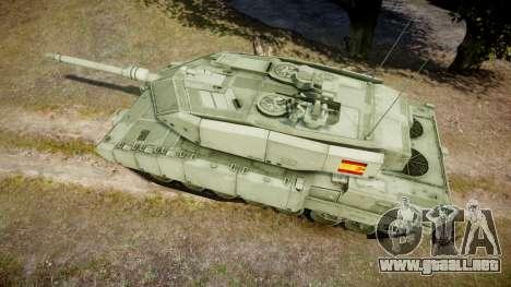 Leopard 2A7 ES Green para GTA 4 visión correcta