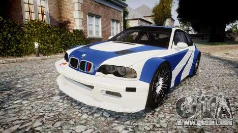 BMW M3 E46 GTR Most Wanted plate NFS para GTA 4