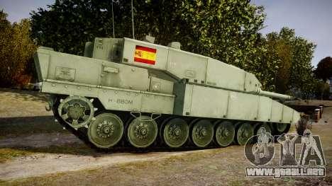 Leopard 2A7 ES Green para GTA 4 left