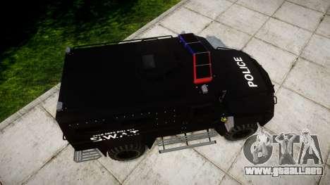 SWAT Van [ELS] para GTA 4 visión correcta