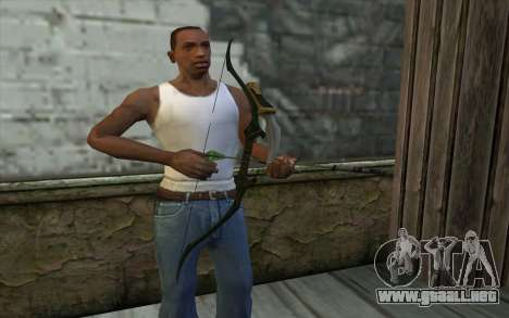 Green Arrow Bow v1 para GTA San Andreas tercera pantalla