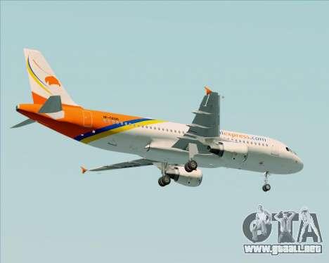 Airbus A320-200 Airphil Express para vista lateral GTA San Andreas