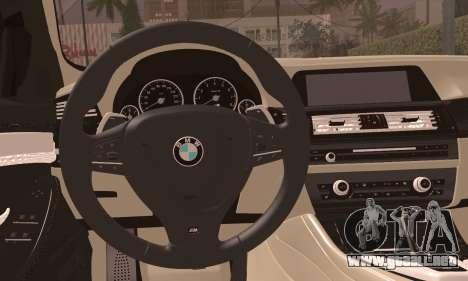 BMW 520d 2012 para GTA San Andreas vista posterior izquierda